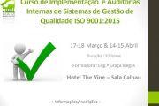 Curso de Implementação e Auditoria Internas de Sistemas de Gestão de Qualidade ISO 9001:2015
